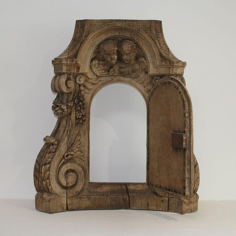 French 18th Century Oak Baroque Tabernacle Front For Sale 7