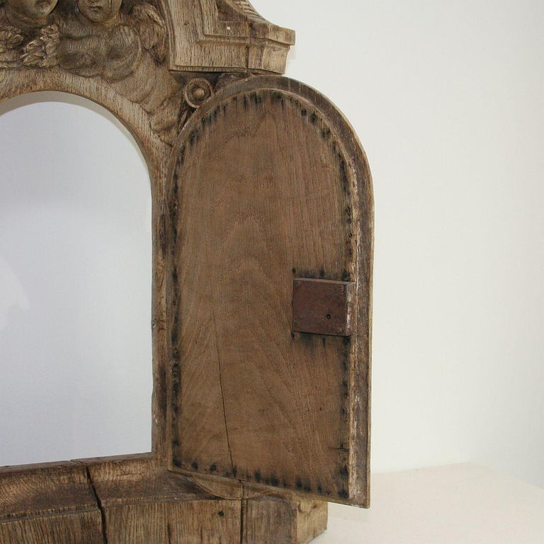 French 18th Century Oak Baroque Tabernacle Front For Sale 8
