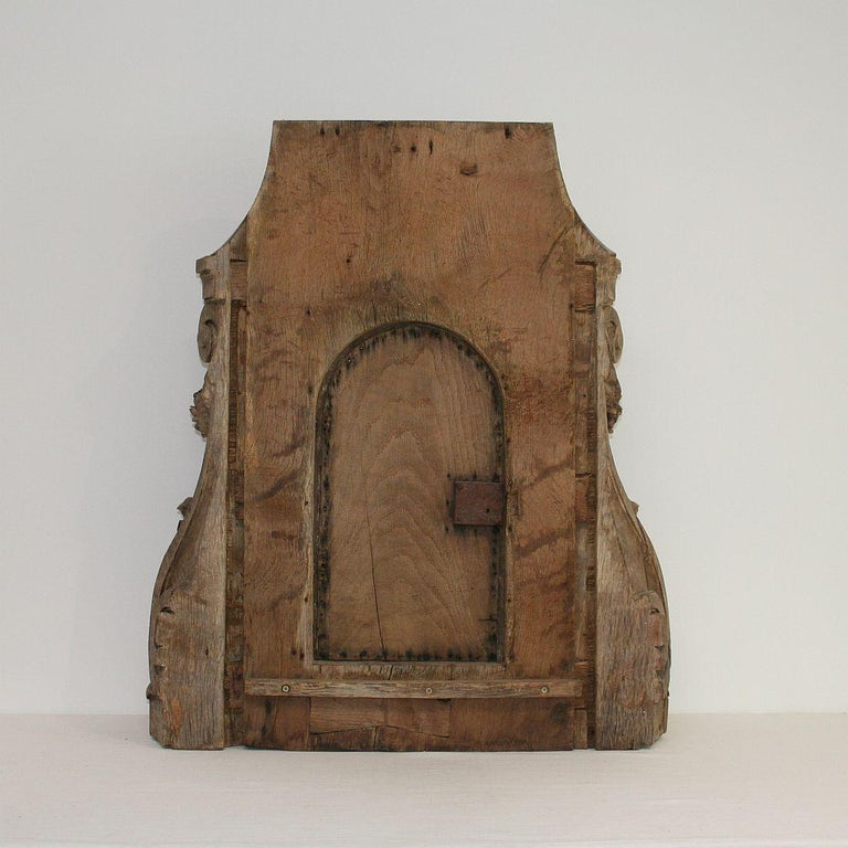 French 18th Century Oak Baroque Tabernacle Front For Sale 10