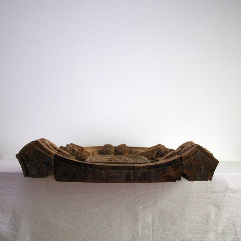 French 18th Century Oak Baroque Tabernacle Front For Sale 12