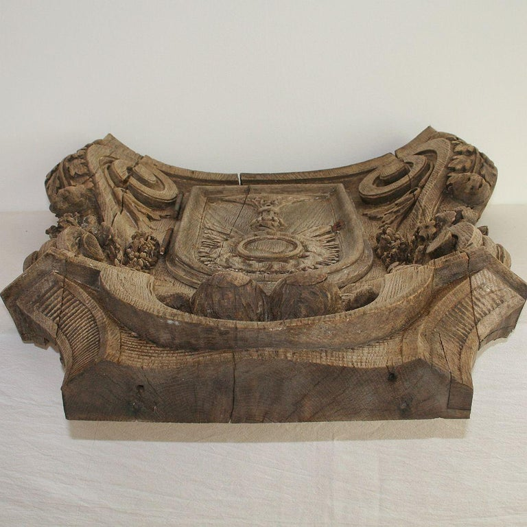 French 18th Century Oak Baroque Tabernacle Front For Sale 13