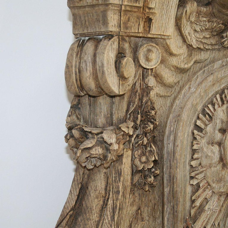 French 18th Century Oak Baroque Tabernacle Front For Sale 1