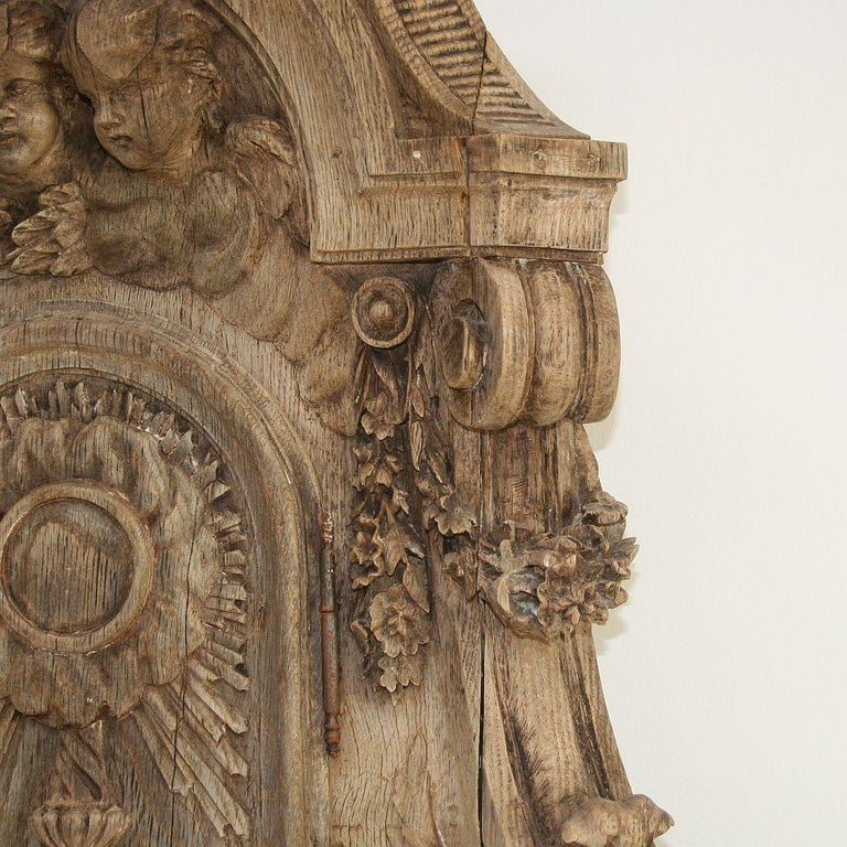 French 18th Century Oak Baroque Tabernacle Front For Sale 2