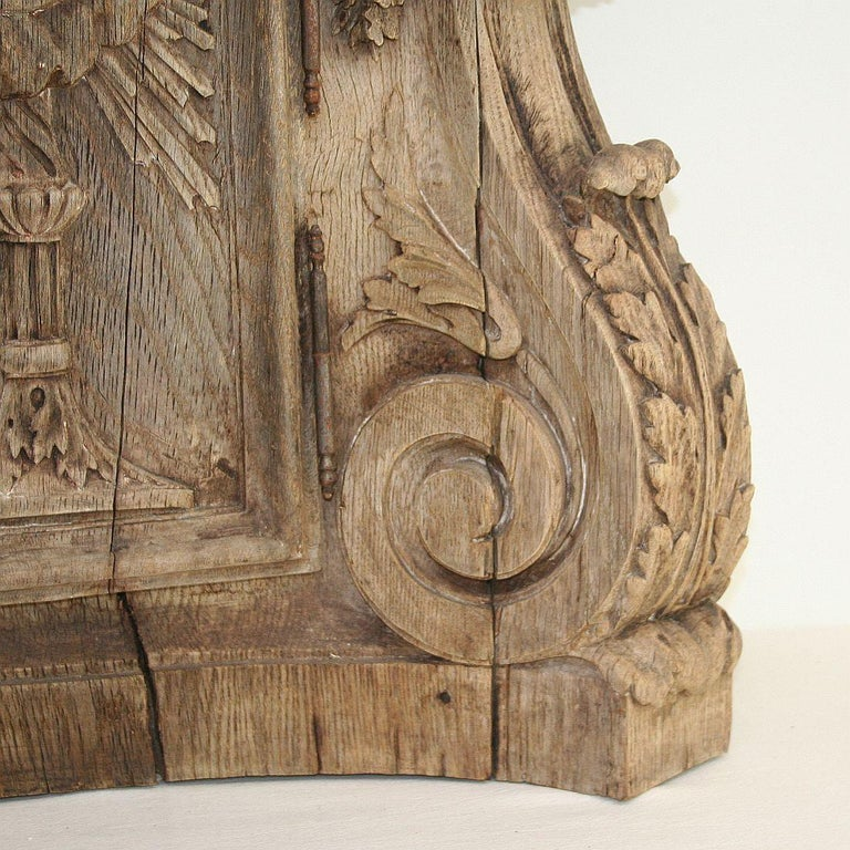 French 18th Century Oak Baroque Tabernacle Front For Sale 4