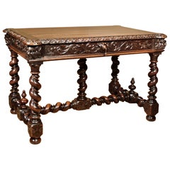 French 18th Century Oak Table Filled with Character