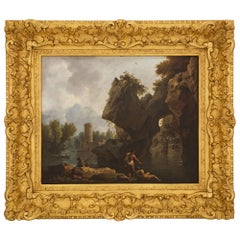 French 18th Century Oil on Canvas Painting, Attributed to Claude-Joseph Vernet