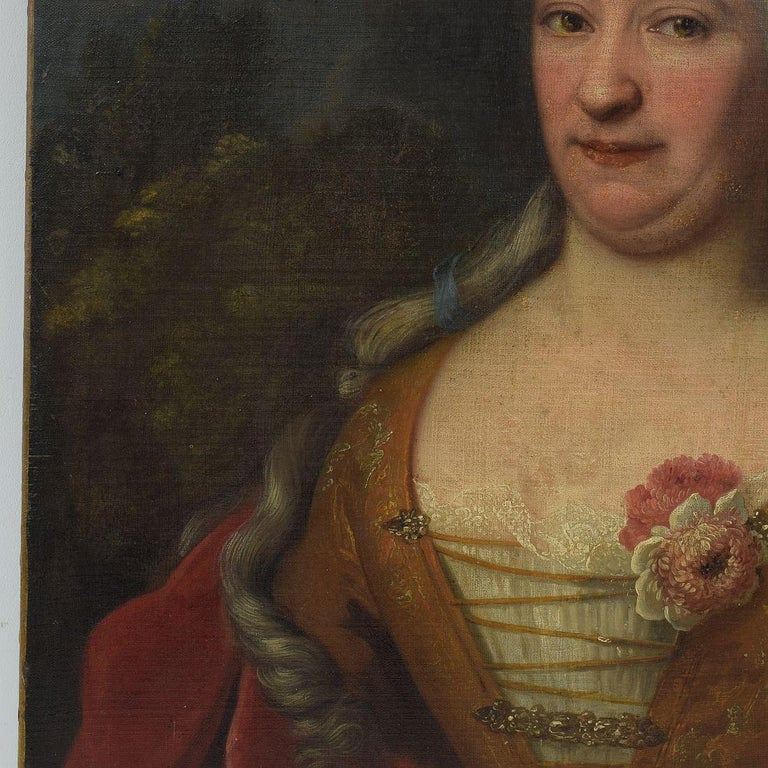 French 18th Century Oil Painting of a Lady In Good Condition For Sale In Amsterdam, NL