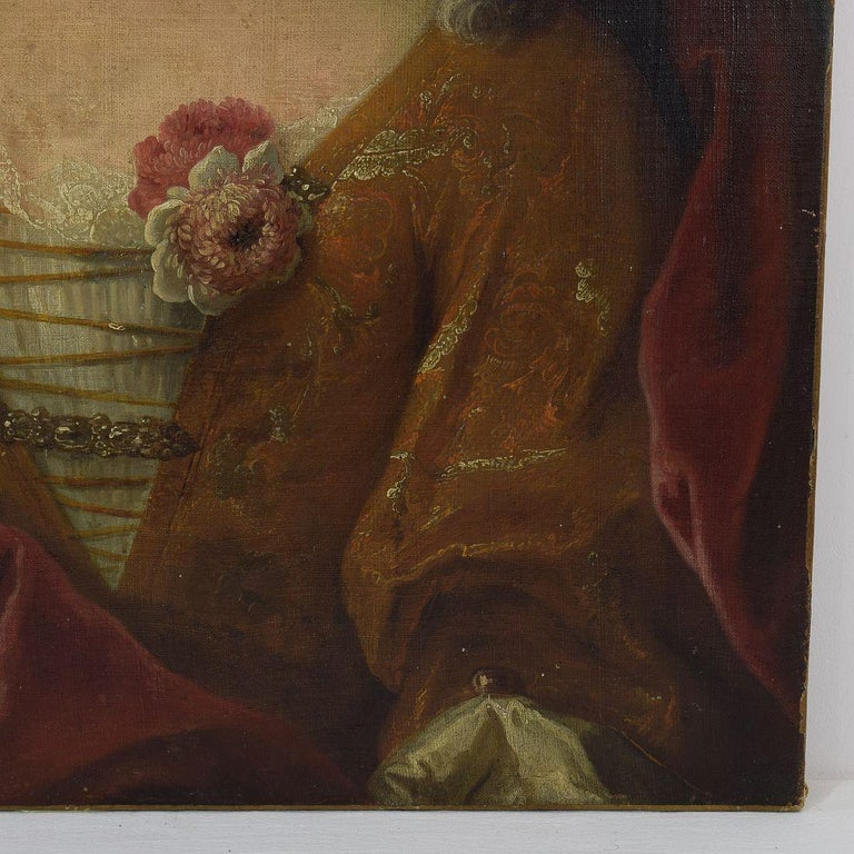 French 18th Century Oil Painting of a Lady For Sale 1