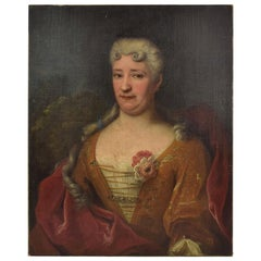 French 18th Century Oil Painting of a Lady