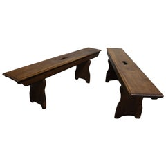 French 18th Century Pair of Benches