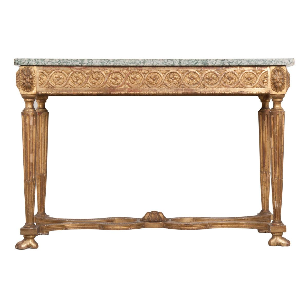 French, 18th Century Period Louis XVI Gold Gilt Console