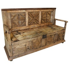 French 18th Century Primitive Bench
