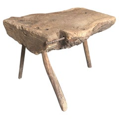 French 18th Century Primitive Stool or Side Table