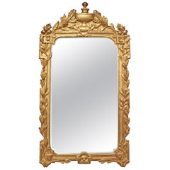 French 18th Century Provincial Regence Period Giltwood Mirror