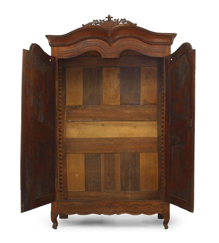 French Provincial French 18th Century Provincial Walnut Armoire For Sale