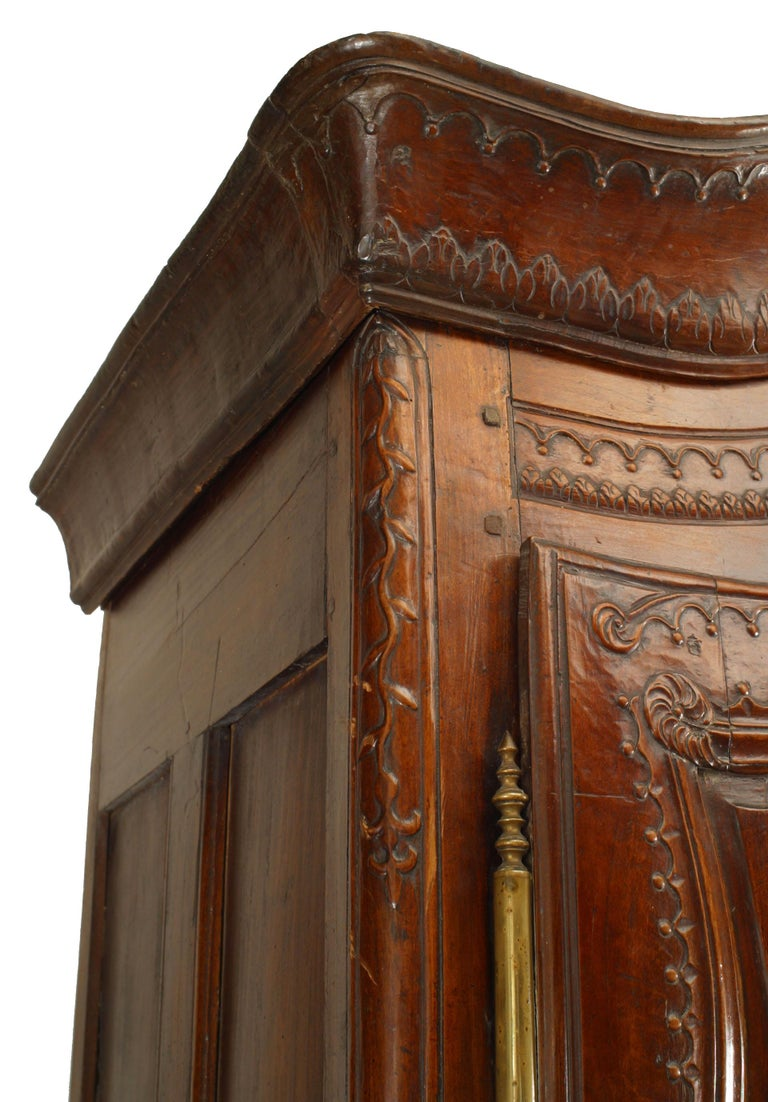 18th Century and Earlier French 18th Century Provincial Walnut Armoire For Sale
