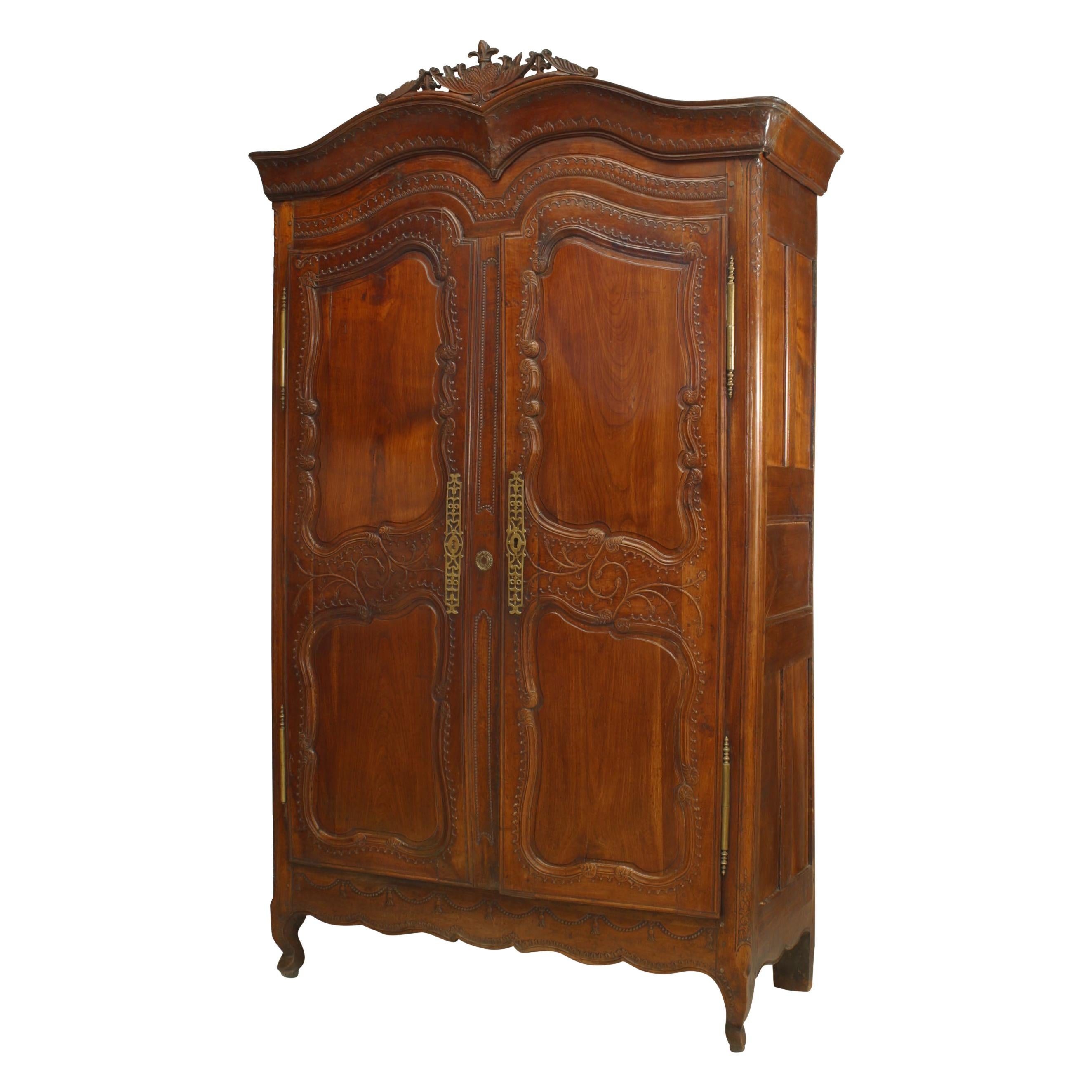 French 18th Century Provincial Walnut Armoire