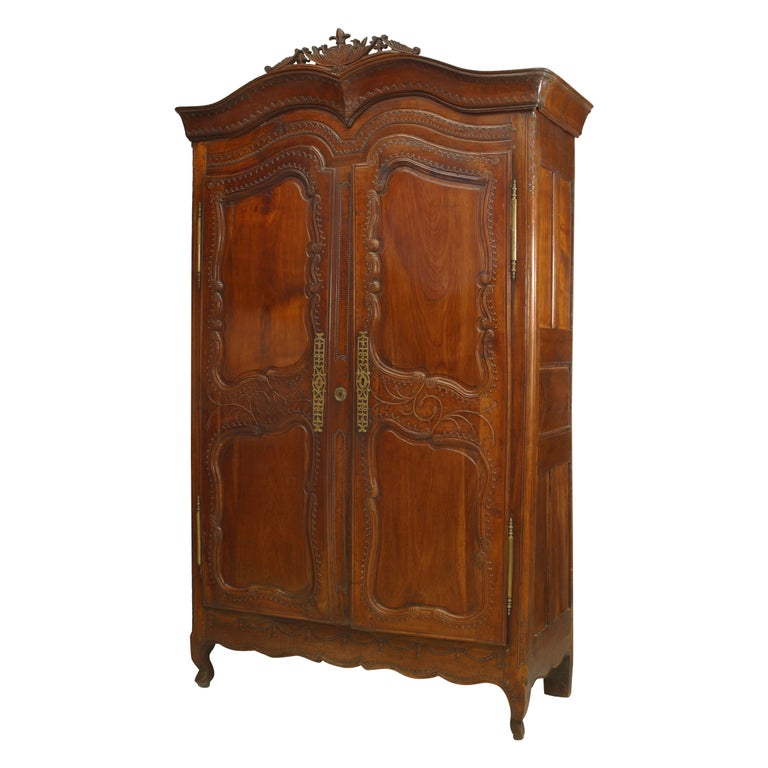 French 18th Century Provincial Walnut Armoire For Sale