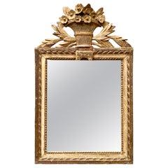 French 18th Century Rectangular Gilded Wall Mirror