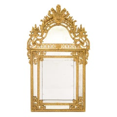French 18th Century Régence Period Double Framed Giltwood Mirror