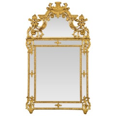 French 18th Century Regence Period Double Framed Giltwood Mirror