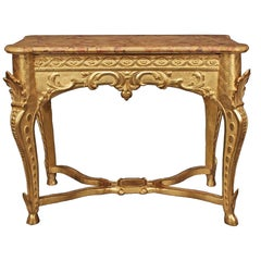 French 18th Century Regence Period Giltwood Console