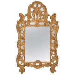 French 18th Century Régence Period Giltwood Mirror