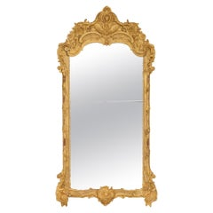 French 18th Century Regence Period Giltwood Mirror