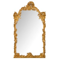 French 18th Century Regence Style Giltwood Mirror