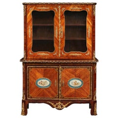 French 18th Century Secretaire Vitrine with All Its Original Ormolu Mounts