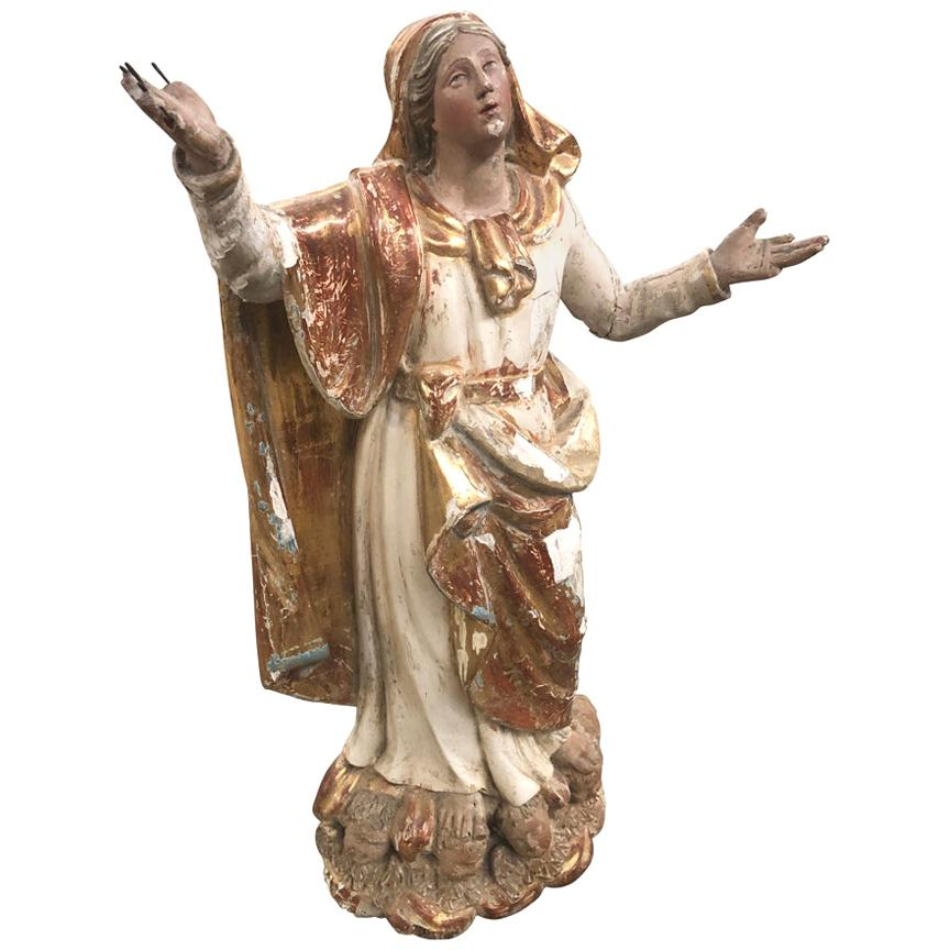 French 18th Century Statue of the Madonna