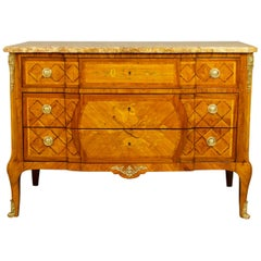 French 18th Century Transition/Louis XVI Love Symbols Marquetry Commode