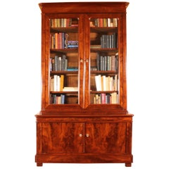 French 19 Century Bookcase in Mahogany