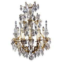 French 19th Century Crystal and Gilt Bronze Chandelier