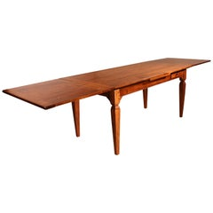 French 19th Century Extending Table Louis XVI Style Legs in Cherrywood