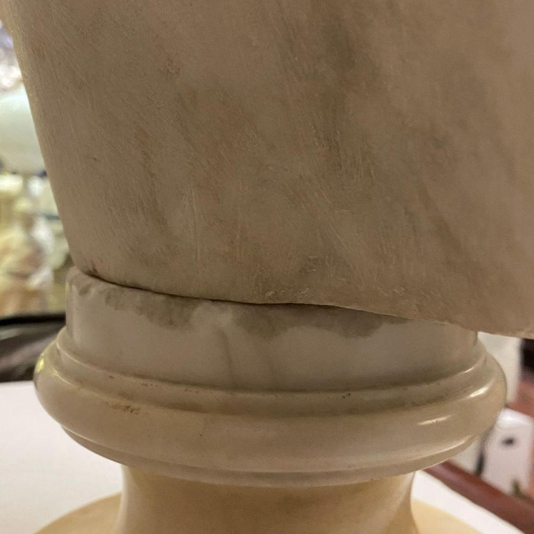French 19th Century Marie Antoinette Marble Bust For Sale 12