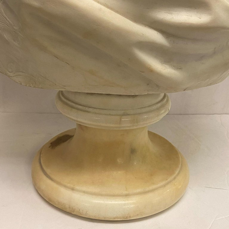 French 19th Century Marie Antoinette Marble Bust For Sale 3