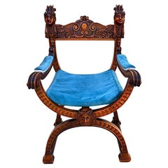 French 19 th century throne/chair