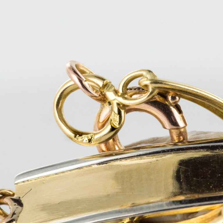 French 1900s 18 Karat Yellow Gold Baby Curb Bracelet For Sale 10