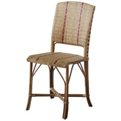 French 1900s Design Bistro Rattan And Wicker Chair