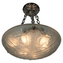 French 1920's Art Deco Chandelier by G. Viarme