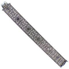 French 1920's Art Deco Platinum Diamond Bracelet