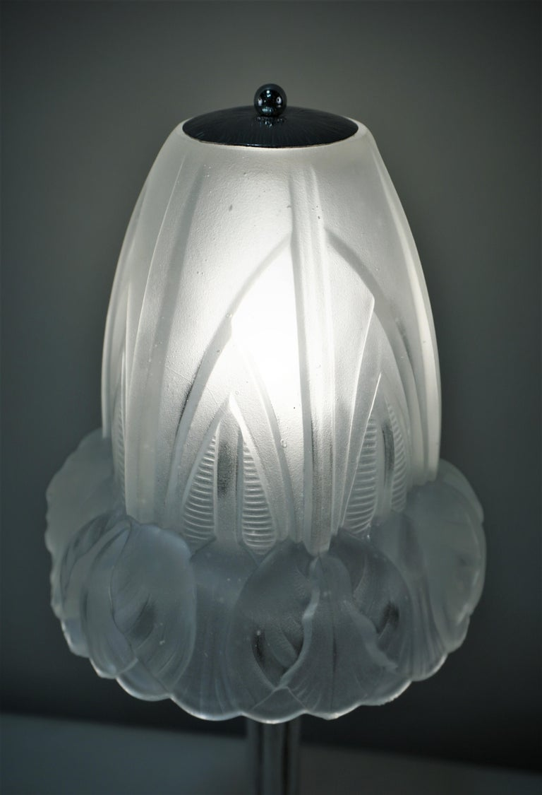 French 1920s Art Deco Table Lamp In Good Condition For Sale In Fairfax, VA
