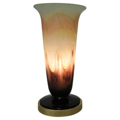 French 1920's Art Glass Table Lamp Bu Andria Delatte Nancy