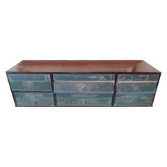 French 1920s Desk Organizer with Six Drawers