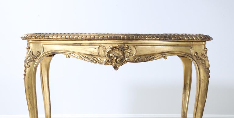 French 1920s Louis XV Style Salon Table For Sale 1