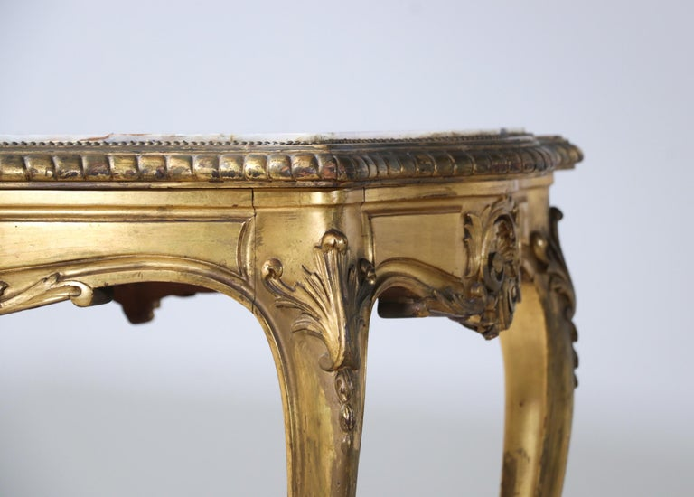 French 1920s Louis XV Style Salon Table For Sale 2