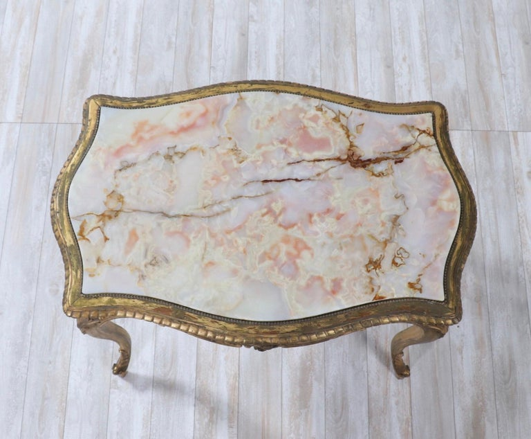 French 1920s Louis XV Style Salon Table For Sale 4