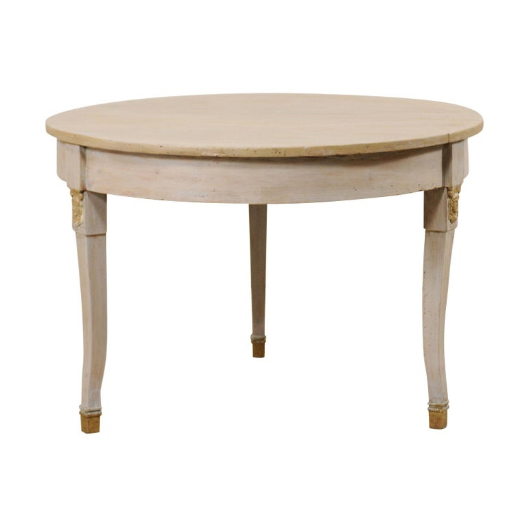 French 1920s Painted Wood Occasional or Center Table For Sale