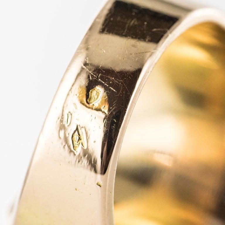 French 1930s 12 Carat Jade 18 Karat Yellow Gold Men's Signet Ring For Sale 11